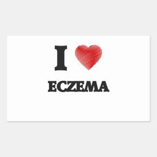 I love ECZEMA Rectangular Sticker