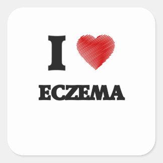 I love ECZEMA Square Sticker