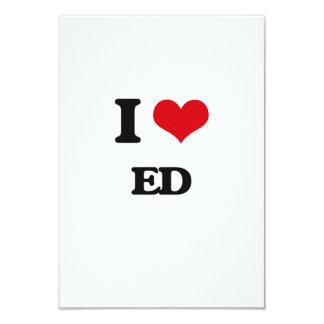 I Love Ed 3.5x5 Paper Invitation Card