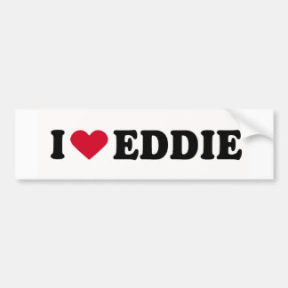 I LOVE EDDIE BUMPER STICKERS