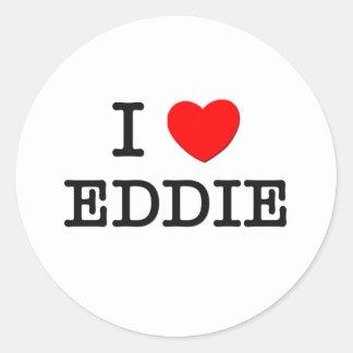 I Love Eddie Classic Round Sticker