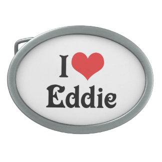 I Love Eddie Oval Belt Buckle