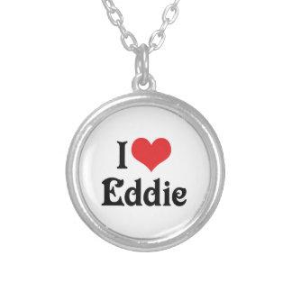 I Love Eddie Round Pendant Necklace