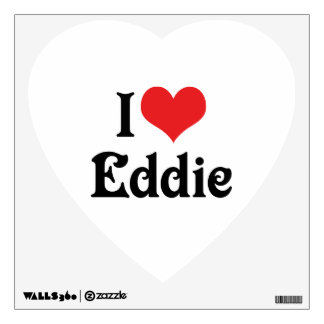 I Love Eddie Wall Sticker