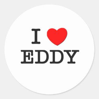 I Love Eddy Classic Round Sticker