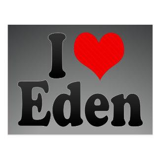 I love Eden Postcard