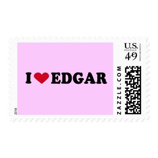 I LOVE EDGAR POSTAGE