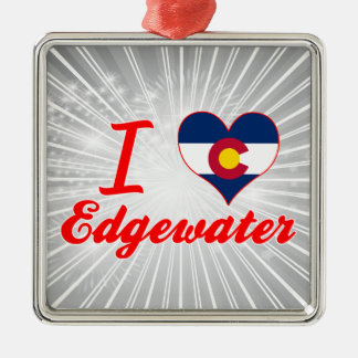 I Love Edgewater, Colorado Christmas Ornaments
