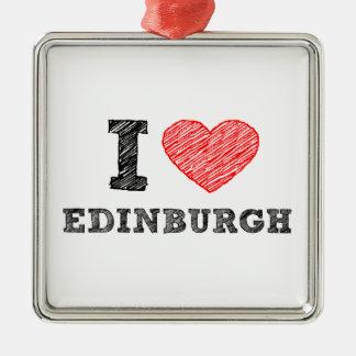 I-love-Edinburgh Metal Ornament