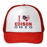 I love Edison, Ohio Trucker Hats