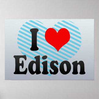I Love Edison, United States Posters