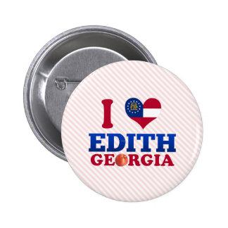 I Love Edith Georgia Pinback Button