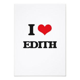 I Love Edith 5x7 Paper Invitation Card