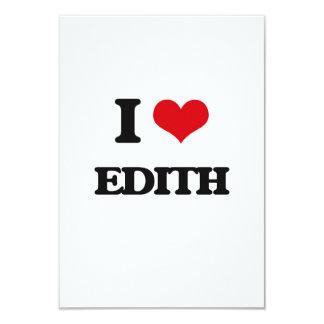 I Love Edith 3.5x5 Paper Invitation Card