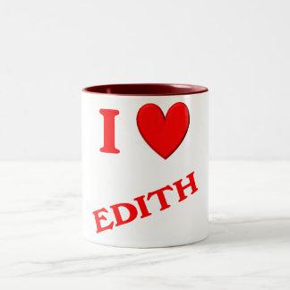 I Love Edith Two-Tone Coffee Mug