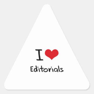 I love Editorials Triangle Sticker