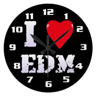 I LOVE EDM I HEART EDM COOL LARGE CLOCK