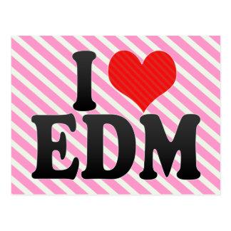 I Love EDM Postcard