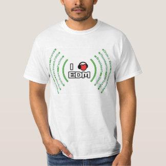 I Love EDM Sound Waves T-Shirt