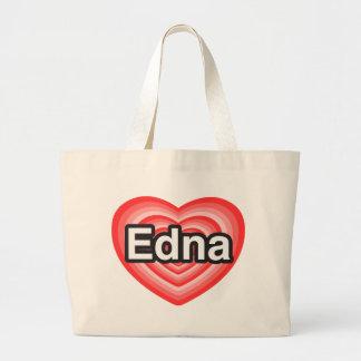 I love Edna. I love you Edna. Heart Canvas Bags
