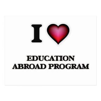 I Love Education Abroad Program Postcard