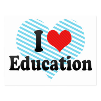 I Love Education Postcard