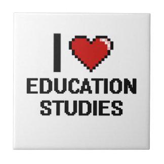I Love Education Studies Digital Design Small Square Tile