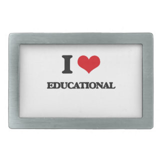 I love Educational Belt Buckle