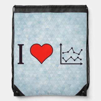 I Love Educational Charts Drawstring Backpack