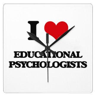 I love Educational Psychologists Wall Clocks