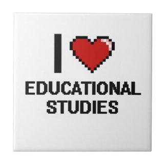 I Love Educational Studies Digital Design Small Square Tile