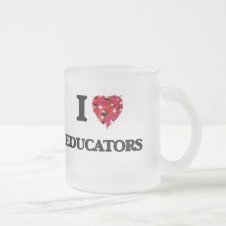 I love Educators 10 Oz Frosted Glass Coffee Mug