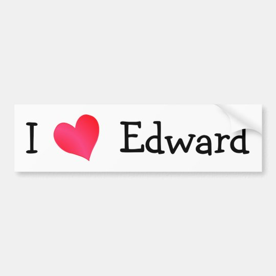 I Love Edward Bumper Sticker