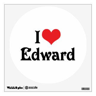 I Love Edward Wall Decal