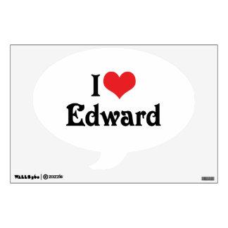 I Love Edward Wall Sticker