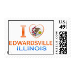 I Love Edwardsville, IL Postage