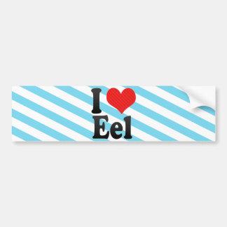 I Love Eel Bumper Stickers