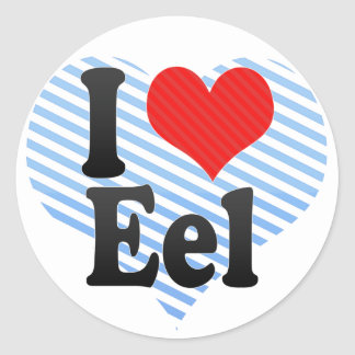 I Love Eel Classic Round Sticker