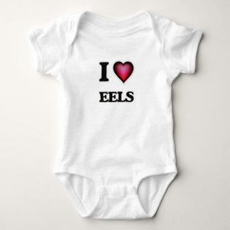 I Love Eels Baby Bodysuit