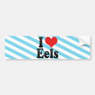 I Love Eels Bumper Sticker