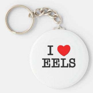 I Love EELS ( food ) Keychains