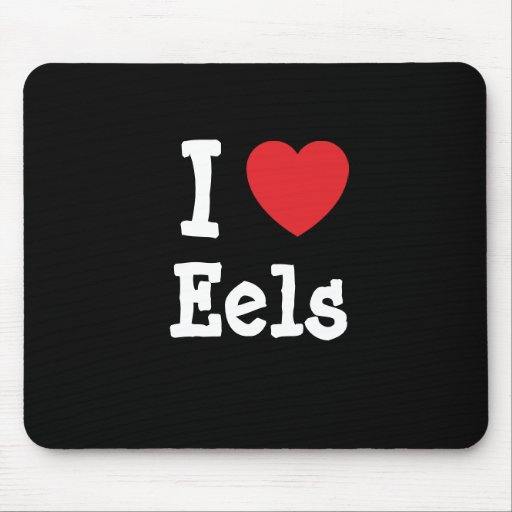 I love Eels heart custom personalized Mouse Pad