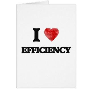 I love EFFICIENCY Card