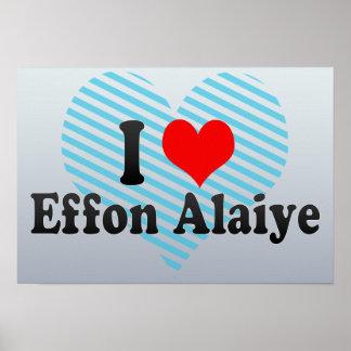 I Love Effon Alaiye, Nigeria Print