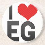 I Love EG Beverage Coaster