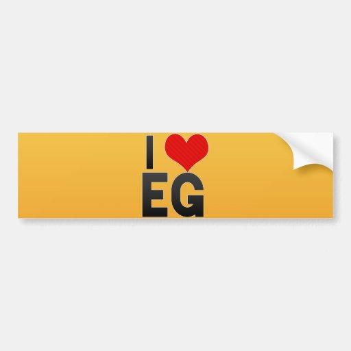 I Love EG Bumper Sticker