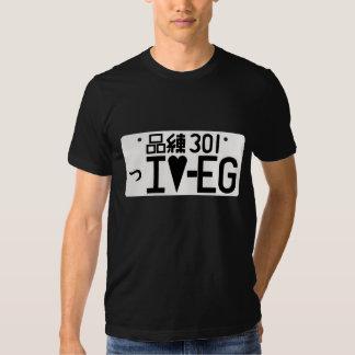 """""""I Love EG"""" Japanese License Plate Tee"""