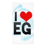 I Love EG Photo Greeting Card