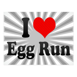 I love Egg Run Postcard