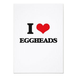 I love EGGHEADS 5x7 Paper Invitation Card